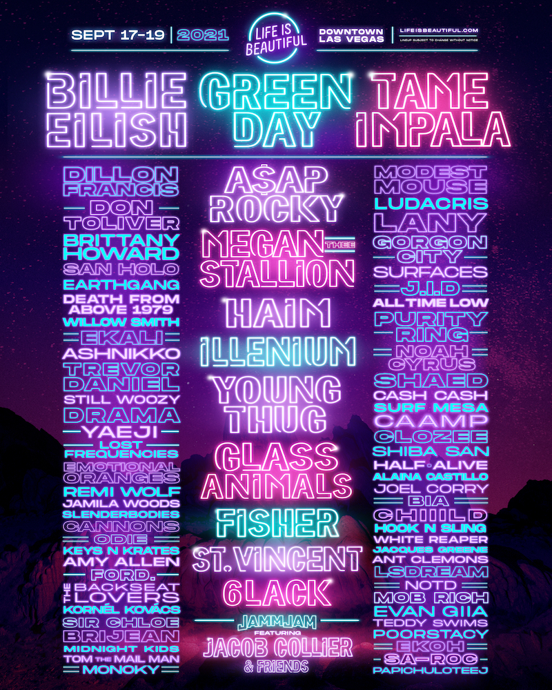 Life is Beautiful Festival 2021 Lineup